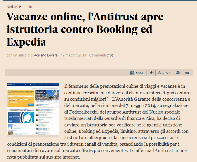 booking expedia antitrust